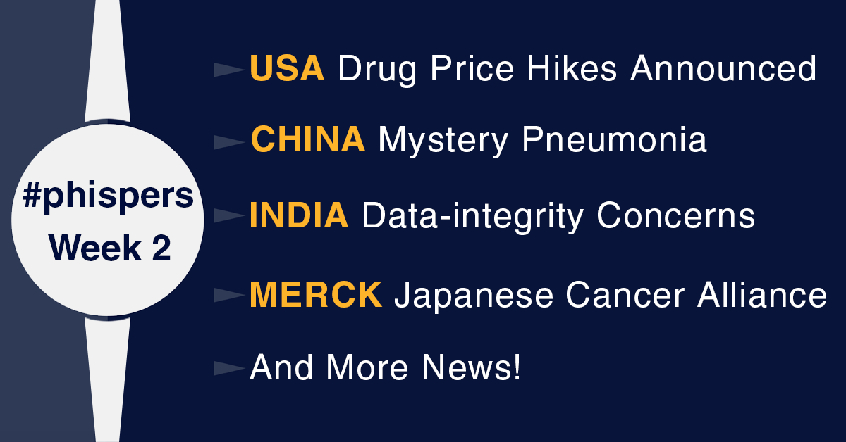 2020 begins with drug price increases in US and mysterious illness in China