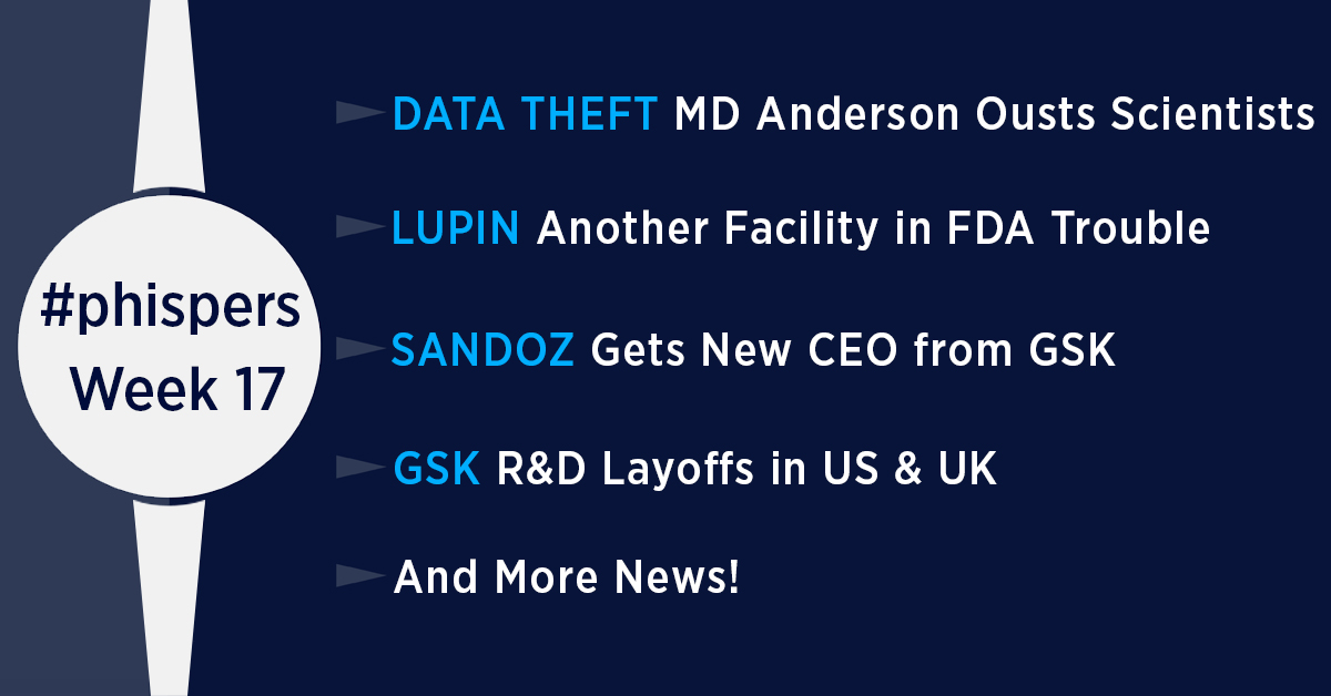 Another Lupin facility gets FDA's OAI classification; layoffs at GSK's R&D ops; Sandoz gets new CEO