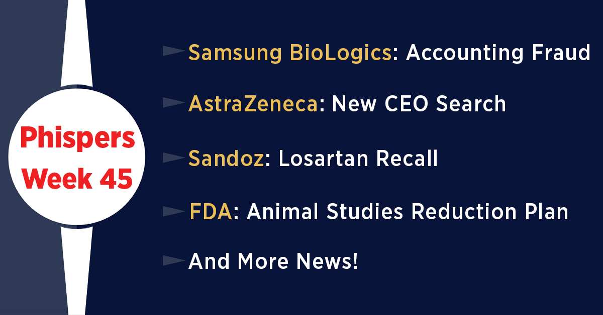AstraZeneca fails big trial, begins search for CEO; Sandoz recalls losartan in the US