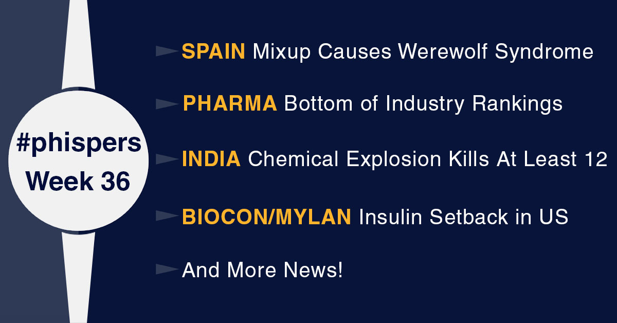 Drug mixup in Spain causes werewolf syndrome in children; explosion at plant in India kills 12