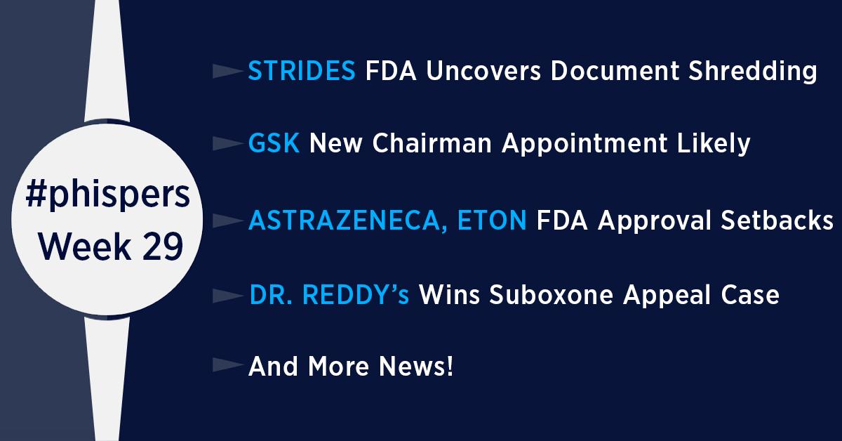FDA uncovers shredding of documents at Strides; US scraps drug rebate proposal