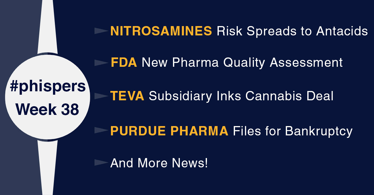 Teva subsidiary inks cannabis deal; After sartans, nitrosamine impurities' scare spreads to antacids