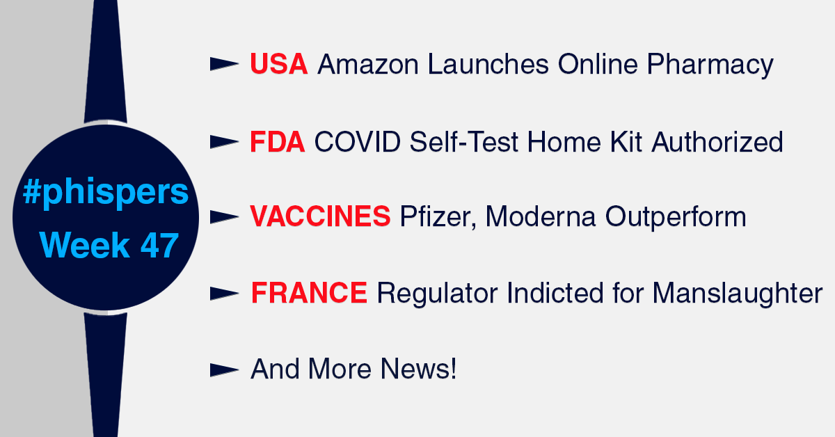 Amazon launches online pharmacy; FDA authorizes first self-test home kit for Covid-19