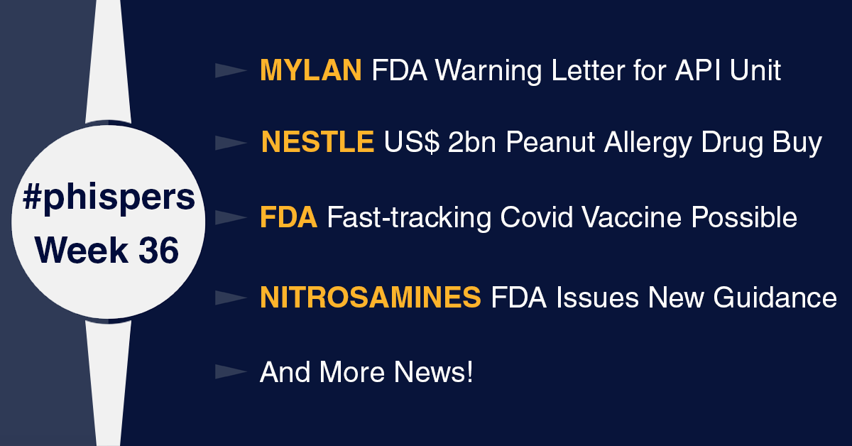Another Mylan unit gets FDA warning letter; US may fast-track Covid-19 vaccine, says FDA chief