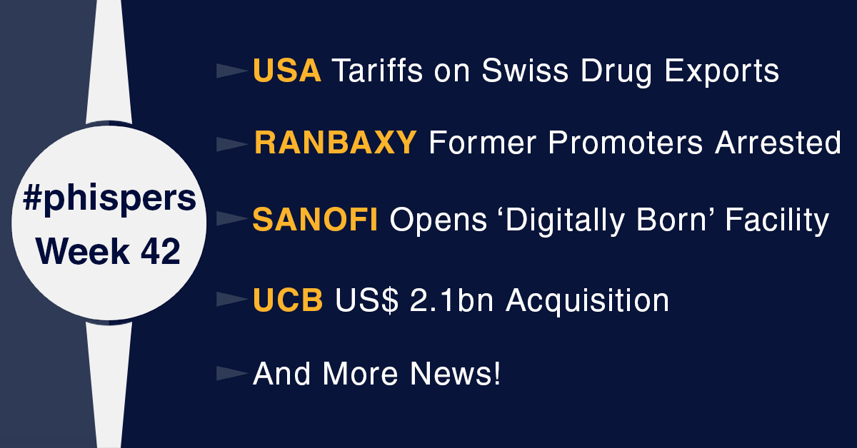 Former Ranbaxy promoters arrested; US plans tariffs on Swiss drug exports