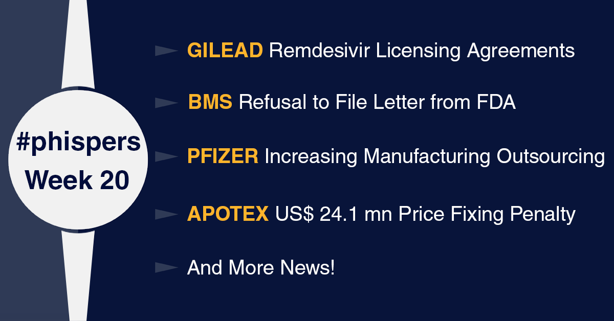 Gilead signs deals for remdesivir production; Pfizer outsources drug-making to focus on Covid vaccine