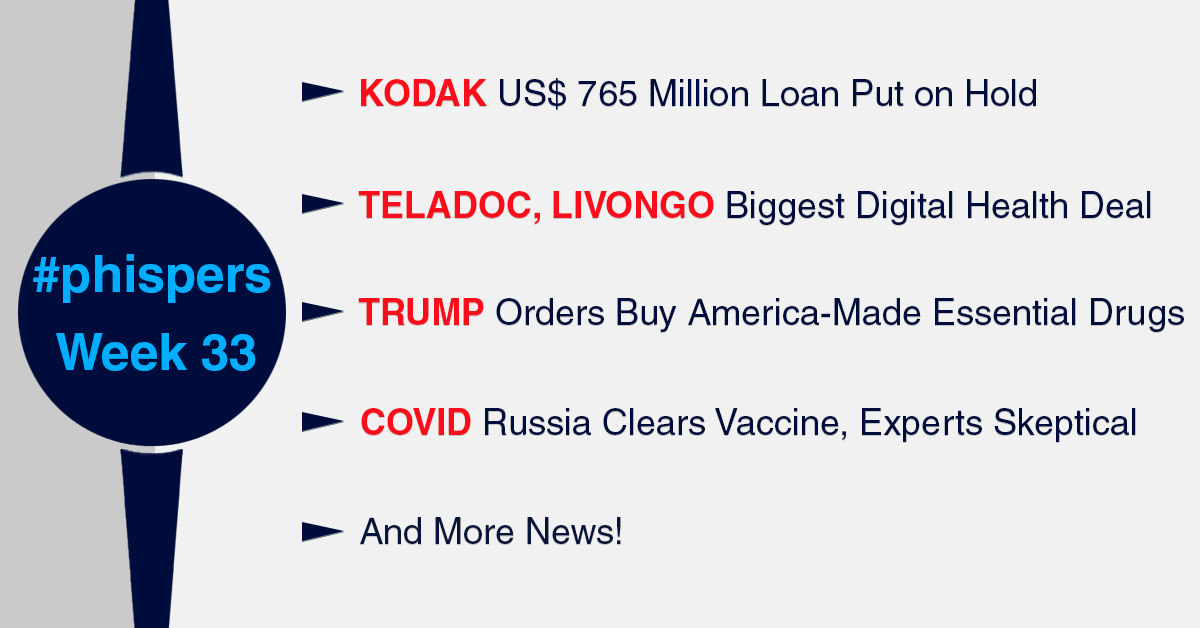Kodak S Us 765 Million Loan Put On Hold Digital Health Sees Its Biggest Deal As Teladoc Buys Livongo Radio Compass Blog
