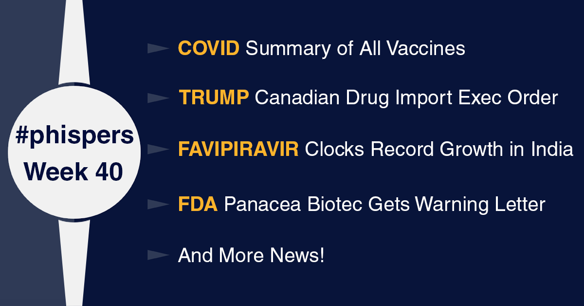 Nature releases summary of all vaccines under development; Panacea Biotec gets FDA warning letter