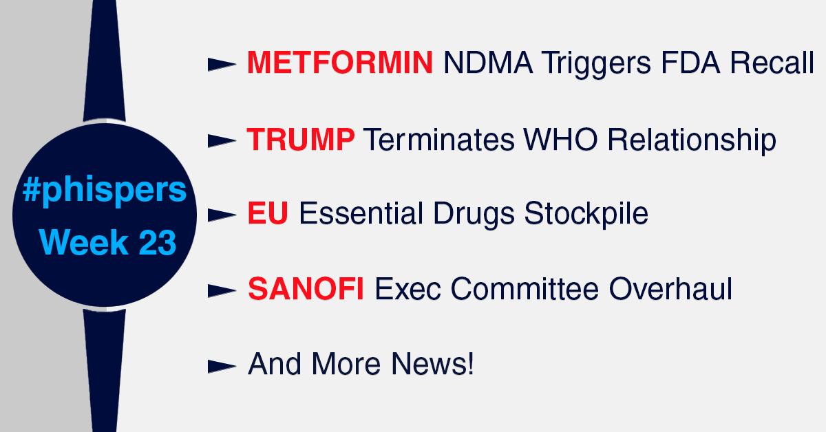 Sanofi overhauls executive committee; FDA recalls metformin due to unacceptable levels of NDMA impurity