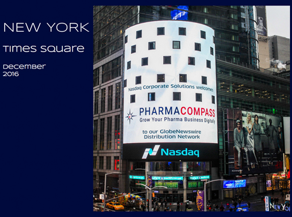 PharmaCompass on Times Square in New York