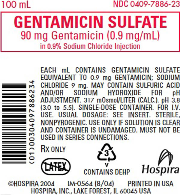 Gentamicin package insert