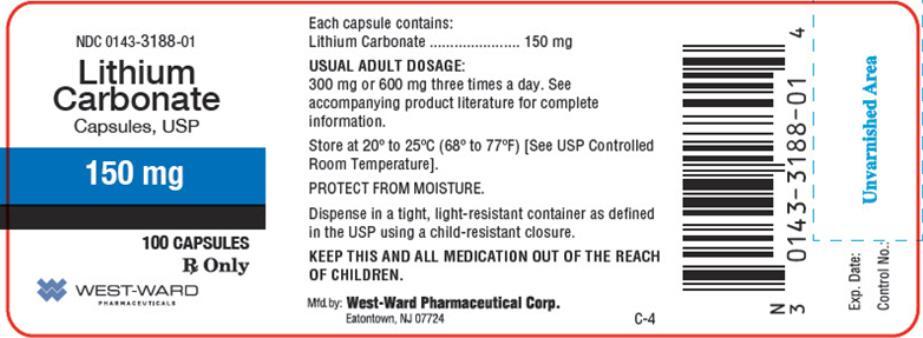 NDC Code 0143-3189-01 - Lithium Carbonate | pharmacompass com