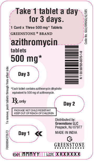 Azithromycin 500mg for 5 days